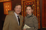 Dan Douglas and Eileen Lamort.The New-York Histoircal Society.Opening of:Woven Splendor from Timbuktu to Tibet: Exotic Rugs and Textiles from New York Collectors