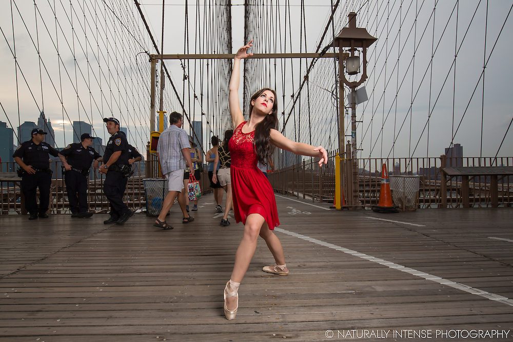 Lindsey Horrigan. Brooklyn Bridge. Dance As Art- The New York Photography Project
