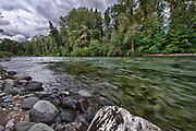 USA, Washington, Snoqualmie Nationall Forest. Cle Elum River.