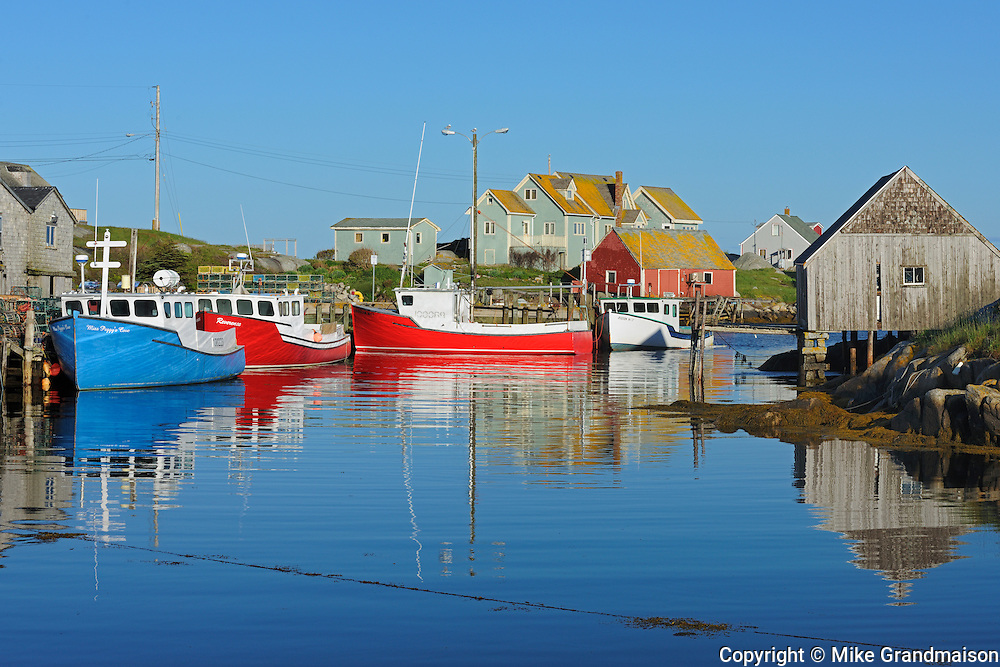 Coastal fishing village on the Atlantic Ocean<br /> Peggy's Cove<br /> Nova Scotia<br /> Canada