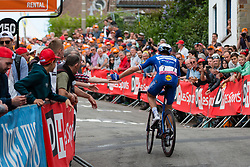 Petr Vakoc (CZE) of Deceuninck - Quick Step (BEL,WT,Specialized) during the 2019 La Fl&egrave;che Wallonne (1.UWT) with 195 km racing from Ans to Mur de Huy, Belgium. 24th April 2019. Picture: Pim Nijland | Peloton Photos<br /> <br /> All photos usage must carry mandatory copyright credit (Peloton Photos | Pim Nijland)