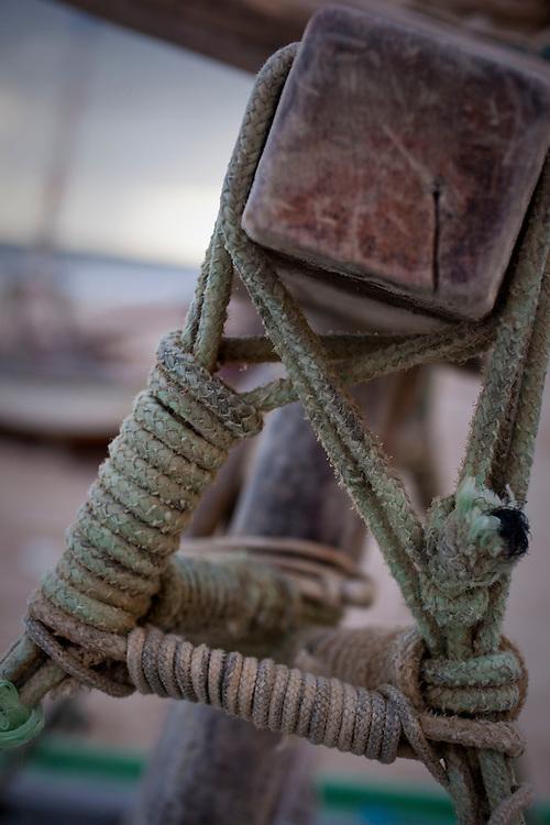 Canoa Quebrada_CE, Brasil...Imagens diversas da praia de Canoa Quebrada, no Ceara. Na foto detalhe de uma jangada utilizada por pescadores...Canoa Quebrada beach  in Ceara. In the photo detail of a boat used by fishermen...Foto: BRUNO MAGALHAES / NITRO