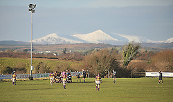 Snow on the hills and sunshine at Cloondeash as Castlebar took on Ballyhaunis in the Connacht Junior Cup on sunday last.<br /> Pic Conor McKeown