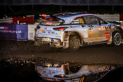 October 26, 2017 - Deeside, Wales, United Kingdom - 5 Thierry Neuville (BEL) and co-driver Nicolas Gilsoul (BEL) of Hyundai Motorsport compete in the Tir Prince Special Stage, Wales of the Rally GB round of the 2017 FIA World Rally Championship. (Credit Image: © Hugh Peterswald/Pacific Press via ZUMA Wire)