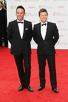 Anthony McPartlin; Declan Donnelly, Arqiva British Academy Television Awards, Royal Festival Hall London UK, 12 may 2013, (Photo by Richard Goldschmidt)