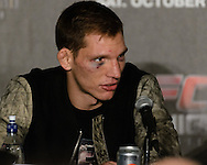 "MANCHESTER, ENGLAND, NOVEMBER 26, 2013: Luke Barnatt is pictured at the post-fight press conference for ""UFC Fight Night 30: Machida vs. Munoz"" inside Phones4U Arena in Manchester, England (© Martin McNeil)"