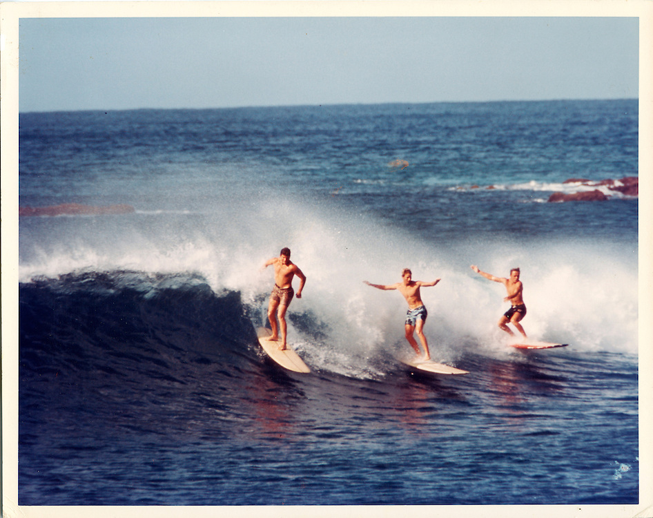 Bill Robbins at Makaha Beach, 1966 by LeRoy Grannis