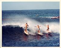 Bill Robbins at Makaha Beach, 1966 by LeRoy Grannis