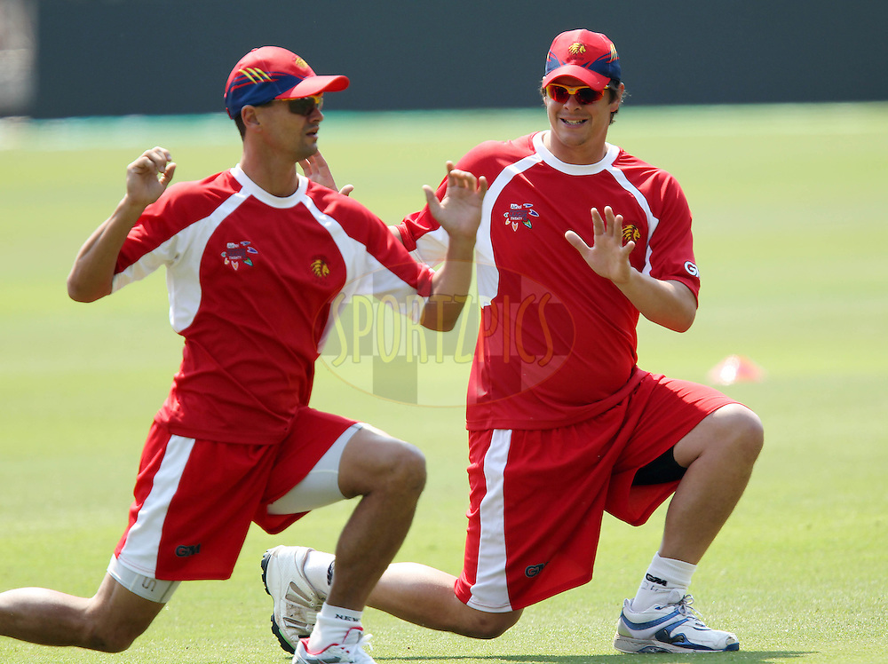 Zander de Bruyn anf Robert Frylink during the Lions Training session at The Wanderers Stadium in Johannesburg on the 17 September 2010..Photo by: Ron Gaunt/SPORTZPICS/CLT20