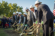 Officials break ground on the new Condit Elementary School on Saturday, Nov. 1, 2014.