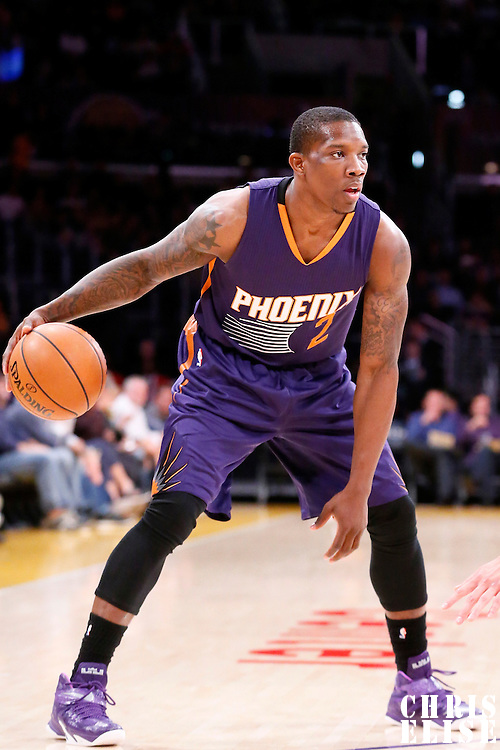 04 November 2014: Phoenix Suns guard Eric Bledsoe (2) dribbles during the Phoenix Suns 112-106 victory over the Los Angeles Lakers, at the Staples Center, Los Angeles, California, USA.