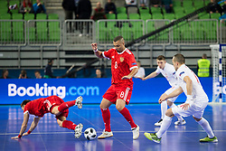 Eder Lima of Russia during futsal match between Russia and Poland at Day 1 of UEFA Futsal EURO 2018, on January 30, 2018 in Arena Stozice, Ljubljana, Slovenia. Photo by Urban Urbanc / Sportida