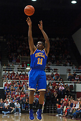 Dec 29, 2011; Stanford CA, USA; UCLA Bruins guard Lazeric Jones (11) shoots against the Stanford Cardinal during the second half at Maples Pavilion.  Stanford defeated UCLA 60-59. Mandatory Credit: Jason O. Watson-US PRESSWIRE