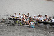 Boston, USA, Club Men's eights,  [58[ Argonaut RC and [59] Rochester Intsitute of Tech come together as they approach, the  Eliot Bridge.   Head of the Charles, Race Charles River,  Cambridge,  Massachusetts. Saturday  20/10/2007 [Mandatory Credit Peter Spurrier/Intersport Images]..... , Rowing Course; Charles River. Boston. USA