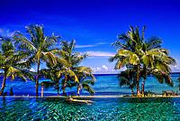 Infinity pool, Tokoriki Island Resort, Mamunucas, Fiji Islands