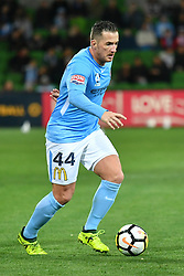 October 6, 2017 - Melbourne, Victoria, Australia - ROSS MCCORMACK (44) of Melbourne City controls the ball in the round one match of the A-League between Melbourne City and Brisbane Roar at AAMI Park, Melbourne, Australia. Melbourne won 2-0 (Credit Image: © Sydney Low via ZUMA Wire)