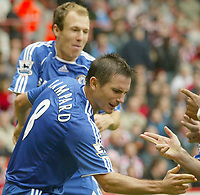 Photo: Aidan Ellis.<br /> Sheffield United v Chelsea. The Barclays Premiership. 28/10/2006.<br /> Chelsea's Frank Lampard celebrates his goal