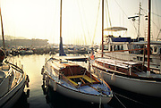 France, Provence, St.Tropez, early morning at St. Tropez Harbor
