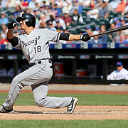 NEW YORK, NEW YORK - June 01:  Tyler Saladino #18 of the Chicago White Sox batting during the Chicago White Sox  Vs New York Mets regular season MLB game at Citi Field on June 01, 2016 in New York City. (Photo by Tim Clayton/Corbis via Getty Images)
