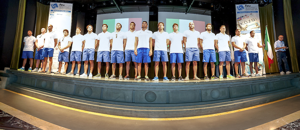 ITALY<br /> Opening Ceremony<br /> day 00 - 22/06/2015<br /> FINA Water Polo World League Superfinal Men<br /> Bergamo (ITA) 23-28 June 2015<br /> Photo G.Scala/Deepbluemedia