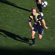 Bradley Porter in action during the Central Coast Mariners V Brisbane Roar A-League match at Bluetongue Stadium, Gosford, Australia, 19 December 2009. Photo Tim Clayton
