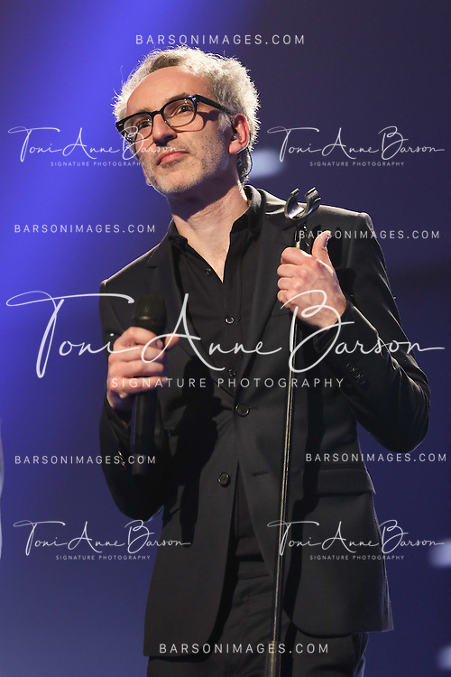 "PARIS, FRANCE - FEBRUARY 10:  Vincent Delerm performs during the ""32nd Victoires de la Musique 2017"" at Le Zenith on February 10, 2017 in Paris, France.  (Photo by Tony Barson/FilmMagic)"