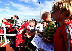 Flo Allen of Bristol City Women signs autographs for fans - Mandatory by-line: Robbie Stephenson/JMP - 03/06/2017 - FOOTBALL - Stoke Gifford Stadium - Bristol, England - Bristol City Women v Arsenal Ladies - FA Women's Super League Spring Series
