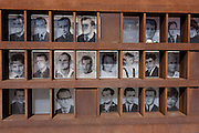 "The faces and names of those killed while trying to cross  Berlin Wall, the former border between Communist East and West Berlin during the Cold War. The Berlin Wall was a barrier constructed by the German Democratic Republic (GDR, East Germany) starting on 13 August 1961, that completely cut off (by land) West Berlin from surrounding East Germany and from East Berlin. The Eastern Bloc claimed that the wall was erected to protect its population from fascist elements conspiring to prevent the ""will of the people"" in building a socialist state in East Germany. In practice, the Wall served to prevent the massive emigration and defection that marked Germany and the communist Eastern Bloc during the post-World War II period."