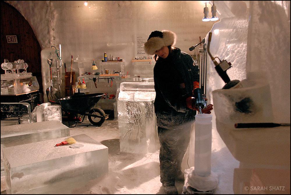 Heather Brice, 4-time World Ice Sculpting Champion