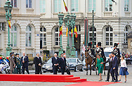 Luxemburg, 12-11-2014<br /> <br /> <br /> King Felipe and Queen Letizia of Spain are visiting Belgium.<br /> <br /> Arrival <br /> <br /> <br /> Photo: Bernard Ruebsamen/Royalportraits Europe