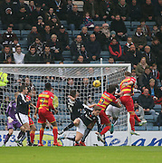 Partick Thistle&rsquo;s Liam Lindsay heads the opening goal - Dundee v Partick Thistle, Ladbrokes Premiership at Dens Park<br /> <br />  - &copy; David Young - www.davidyoungphoto.co.uk - email: davidyoungphoto@gmail.com