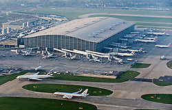 under license to London News Pictures. 23/03/11. PR  USE ONLY. Aerial view of London Heathrow Airport Terminal 5 in West London. Photo credit: LNP