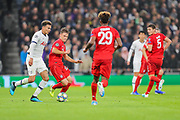 Tottenham Hotspur midfielder Dele Alli (20) and Bayern Munich defender Joshua Kimmich (32) during the Champions League match between Tottenham Hotspur and Bayern Munich at Tottenham Hotspur Stadium, London, United Kingdom on 1 October 2019.