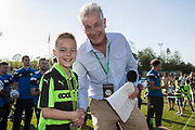Ambassador award from vice chairman Phil Butterworth during the EFL Sky Bet League 2 match between Forest Green Rovers and Grimsby Town FC at the New Lawn, Forest Green, United Kingdom on 5 May 2018. Picture by Shane Healey.