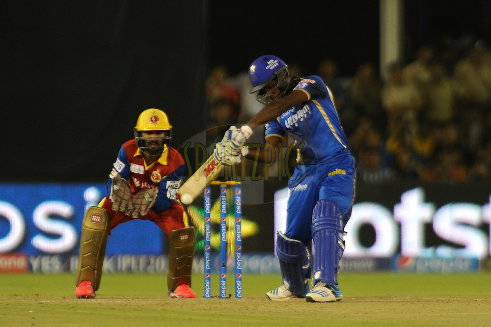 Sanju Samson of Rajasthan Royals bats during match 22 of the Pepsi IPL 2015 (Indian Premier League) between The Rajasthan Royals and The Royal Challengers Bangalore held at the Sardar Patel Stadium in Ahmedabad , India on the 24th April 2015.<br /> <br /> Photo by:  Pal Pillai / SPORTZPICS / IPL