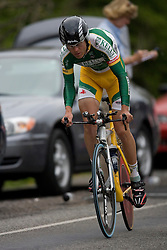 Dan Bowman (KBS) during stage 1 of the Tour of Virginia.  The Tour of Virginia began with a 4.7 mile individual time trial near Natural Bridge, VA on April 24, 2007. Formerly known as the Tour of Shenandoah, the ToV has gained National Race Calendar (NRC) status for the first time in its five year history.