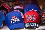 Redneck baseball caps for sale during the annual Summer Redneck Games Dublin, GA.