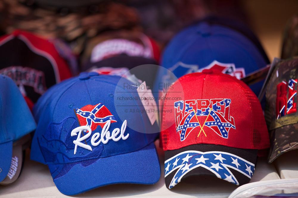 Redneck baseball caps for sale during the annual Summer Redneck Games Dublin, GA.
