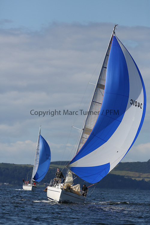 Peelport Clydeport, Largs Regatta Week 2014 Largs Sailing Club based at  Largs Yacht Haven.<br /> 3401C, Rogue Trader, James Cumming, FYC, Elan 340