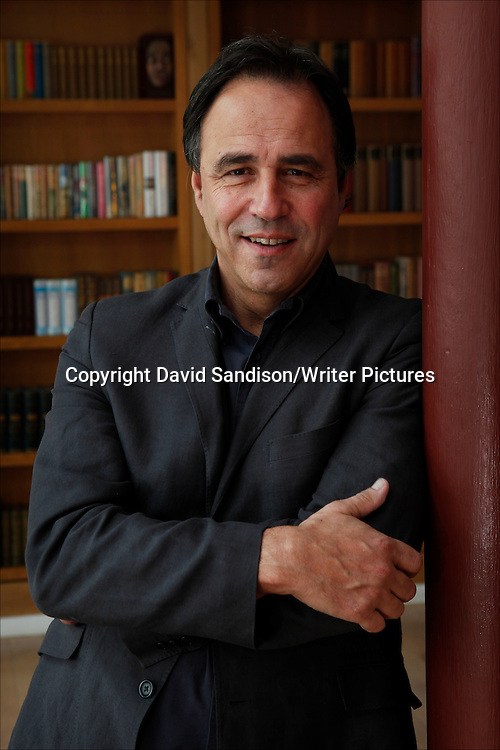 Anthony Horowitz, English author and screenwriter. He has written many children's novels, including The Power of Five, Alex Rider and The Diamond Brothers series. He has also written extensively for television, adapting many of Agatha Christie's Hercule Poirot novels for the ITV series. He is the creator and writer of the ITV series Foyle's War, Midsomer Murders and Collision.. Taken 18th February 2011<br /> <br /> &copy; Photograph by David Sandison/Writer Pictures<br /> <br /> WORLD RIGHTS