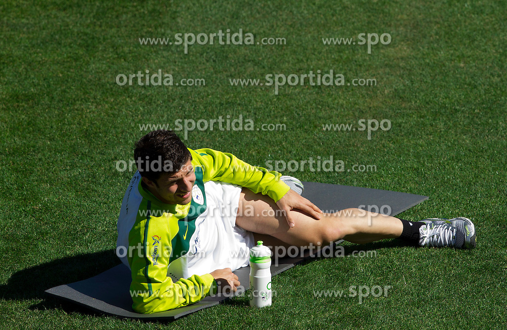 Bojan Jokic of Slovenia during a training session at  Hyde Park High School Stadium on June 14, 2010 in Johannesburg, South Africa.  (Photo by Vid Ponikvar / Sportida)