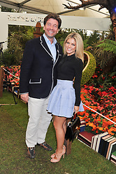 NICK KNOWLES and his wife JESS at the 2013 RHS Chelsea Flower Show held in the grounds of the Royal Hospital, Chelsea on 20th May 2013.