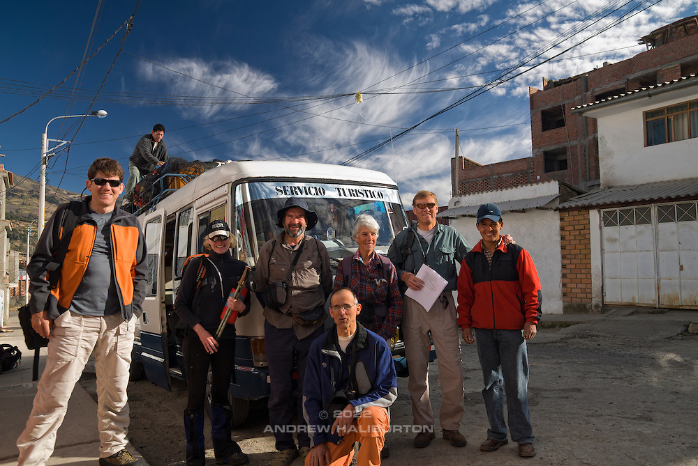 Left to right: James Voortman; Chef Bernardo (on bus); Lorna Backhouse; Carl Fatti; José (Pepe) Ramos-Vara (kneeling); Iona Stewart; Brad Johnson; Mauro (assistant chef).  Nikon D200, 17-50/2.8.
