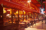 Outdoor restaurant, Calzone's, North Beach, San Francisco. 2001.