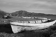 Fishing boats on the beach in Loreto, Baja California Sur, Mexico