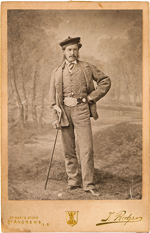 1874 Studio Photograph of Young Tom Morris by Tom Rodger of St Andrews. Shown wearing the Championship belt_jpg