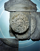 Roman carving of the Ancient British god Sul at Bath, England.