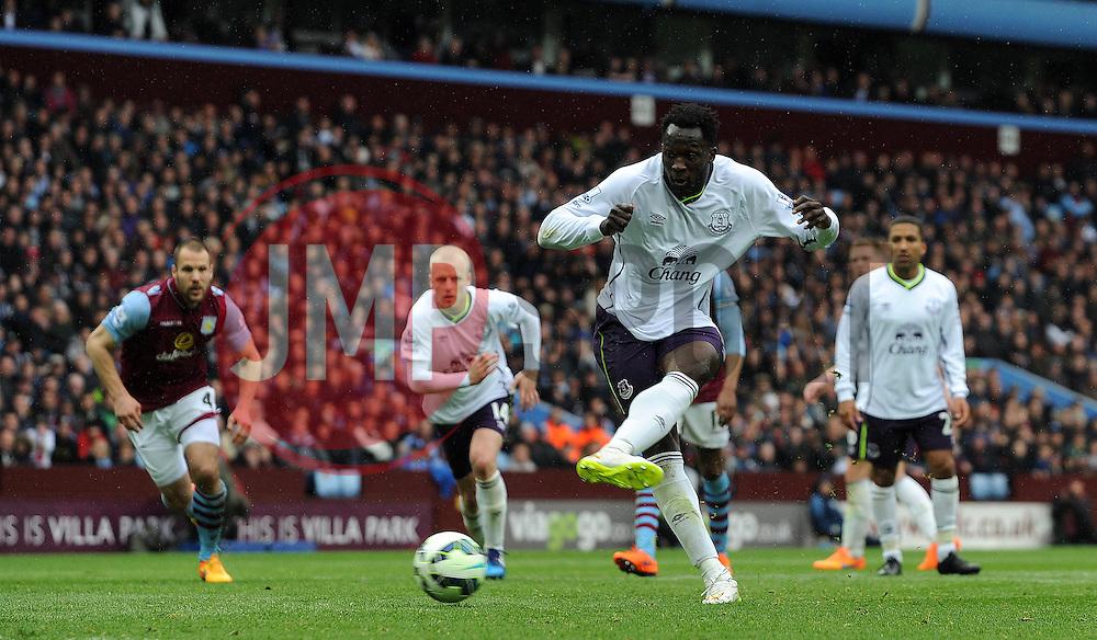 Everton's Romelu Lukaku scores his sides goal- Photo mandatory by-line: Harry Trump/JMP - Mobile: 07966 386802 - 29/04/15 - SPORT - FOOTBALL - Birmingham - Villa Park - Aston Villa v Everton - Barclays Premier League