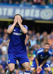 LONDON, ENGLAND - Sunday, May 3, 2015: Chelsea's Branislav Ivanovic looks dejected after missing a chance against Crystal Palace during the Premier League match at Stamford Bridge. (Pic by David Rawcliffe/Propaganda)