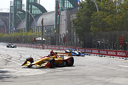 July 15, 2018 - Toronto, Ontario, Canada - RYAN HUNTER-REAY (28) of the United States battles for position during the Honda Indy Toronto at Streets of Toronto in Toronto, Ontario. (Credit Image: © Justin R. Noe Asp Inc/ASP via ZUMA Wire)